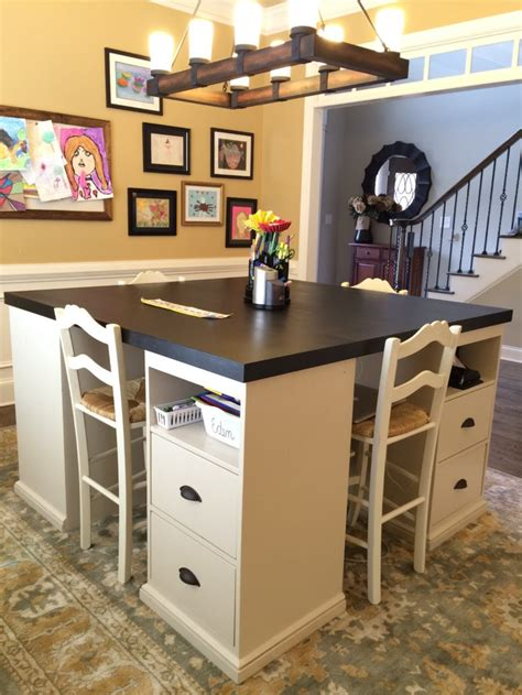 12 Awesome Diy Craft Tables With Free Plans Shelterness Craft Desk Diy