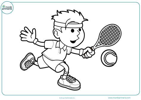 dibujos niños jugando tenis dibujos de tenis para colorear mundo primaria
