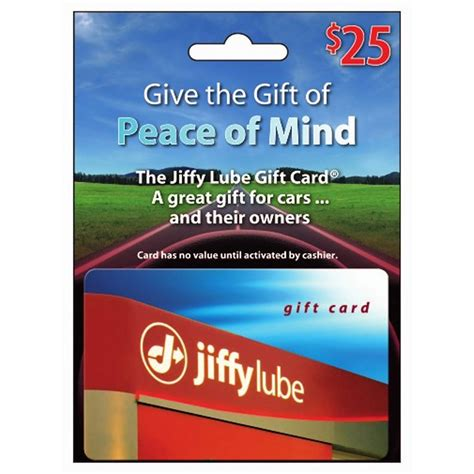 Jiffy Lube Gift Card Amazon - jiffy lube gift card only 18 99 for a 25 value my bjs wholesale
