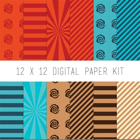 digital paper kit digital scrapbook pattern paper instant