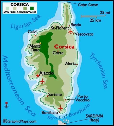 corsica map map of corsica