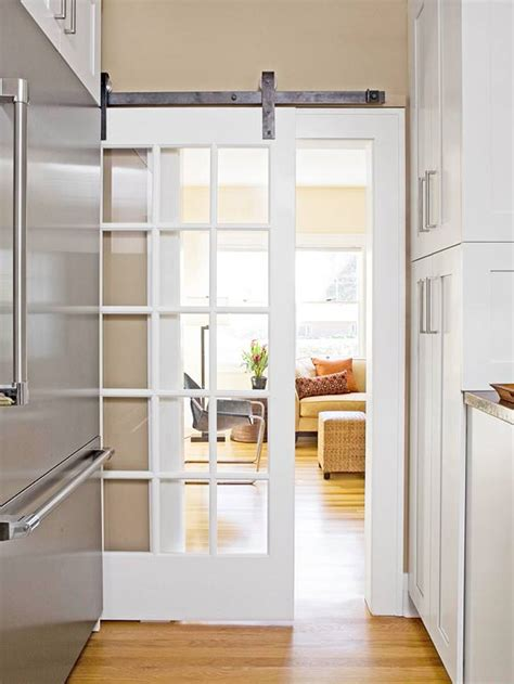 sliding glass barn style door perfect alternative to a pocket door or to add a sound barrier