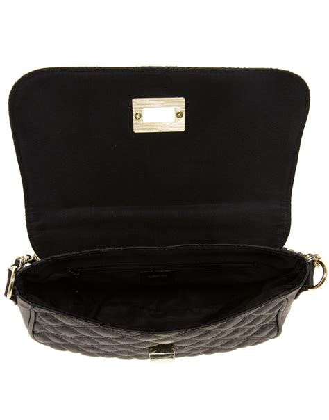 Ruched Across Bag At Asos by Asos Quilted Lock Across Bag In Black Lyst