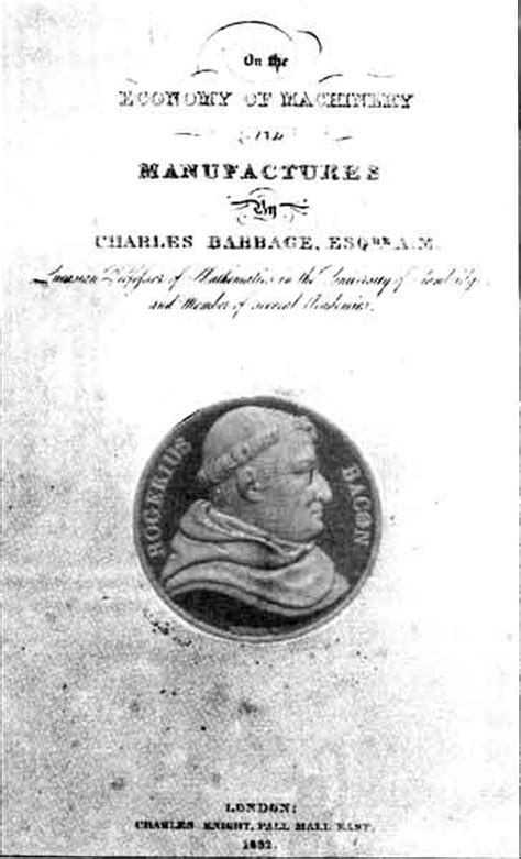 on the economy of machinery and manufactures classic reprint books babbage biography