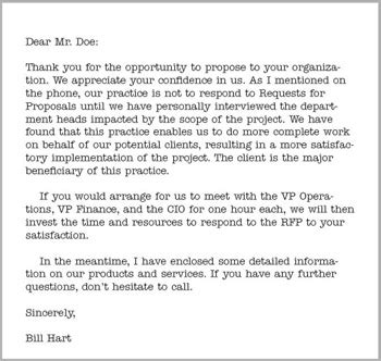 rfp cover letter sle the rfp request for the new solution selling