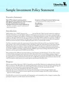 Investment Policy Statement Template by Investment Policy Statement Template Best Template