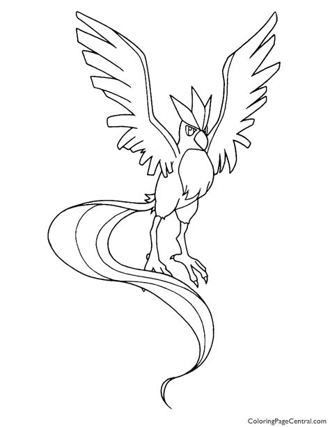 pokemon coloring pages articuno pokemon articuno coloring page 01 coloring page central