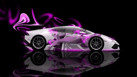 neon pink lamborghini lamborghini huracan side anime aerography car 2014 el tony