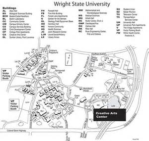 Wright State Map by Artsfair Wright State University