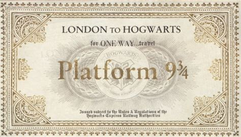 Hogwarts Acceptance Letter And Ticket A Hogwarts Acceptance Letter Is The For Every Potterhead