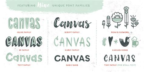 Font Acrylic canvas acrylic megafamily 39 unique typefaces only 19 mightydeals