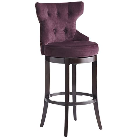 Bar Stools Purple | bar stools hourglass swivel barstool purple damask