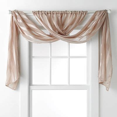 Daisy Fuentes Gold Dust Sheer Window Valance 20 X 84