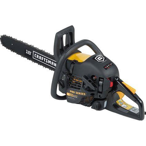craftsman professional saw craftsman 40 9cc 18 quot gas chainsaw