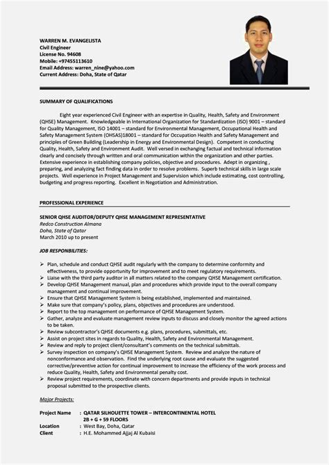 standard resume format for civil engineers best cv sles for civil engineer resume template cover letter
