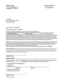 california 60 day notice to vacate ez landlord forms