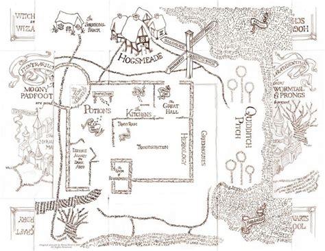 Harry Potter Marauders Map Printout Www Imgkid Com The Image Kid Has It Marauders Map Template