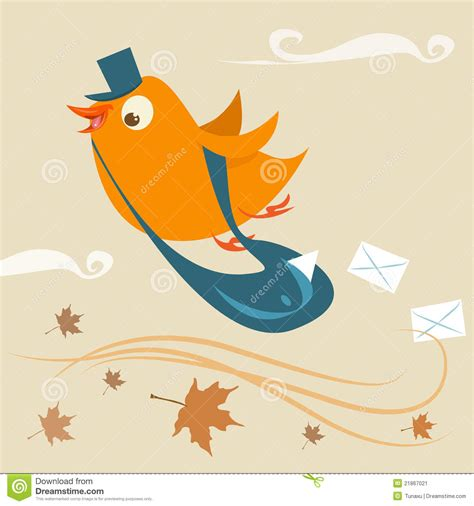 mail delivery bird stock image image 21867021