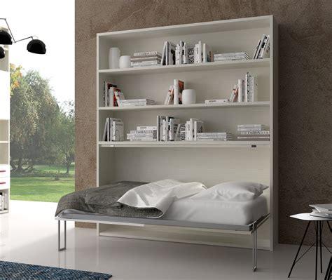 letto libreria letto singolo orizzontale spazio libreria