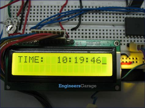 digital clock with 8051 microcontroller at89c51 project