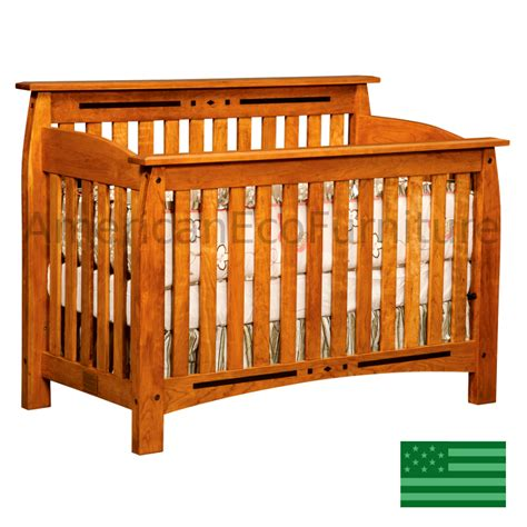 convertable baby crib amish arcadia 4 in 1 convertible baby crib made in usa