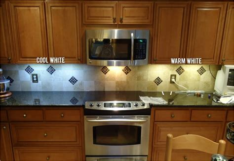 Under Cabinet Led Lights Kitchen by Color Temperature In Led Under Cabinet Lighting