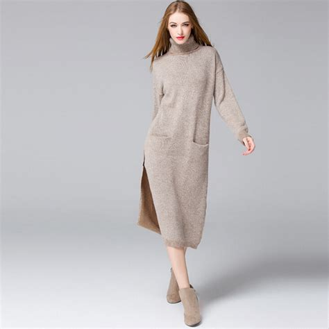 Dress Rajut Vintage sweater dress womens sweater and boots