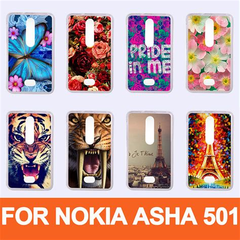 pattern lock screen for nokia asha 501 hot pattern painting colored case for nokia asha 501 diy
