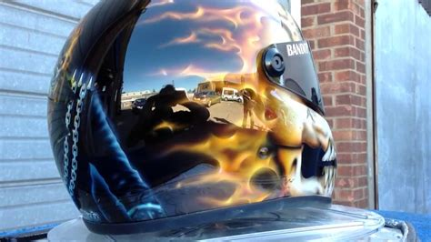spray paint ghost rider ghost rider helmet