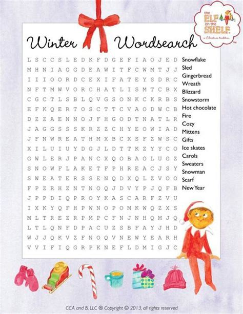 Find On The Shelf by Search Results For Free Printable Winter Word Search
