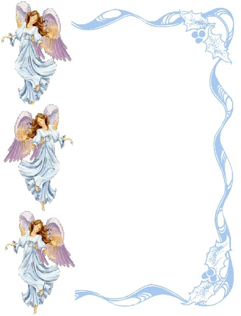 printable angel stationery angel borders printable clipart clipart suggest