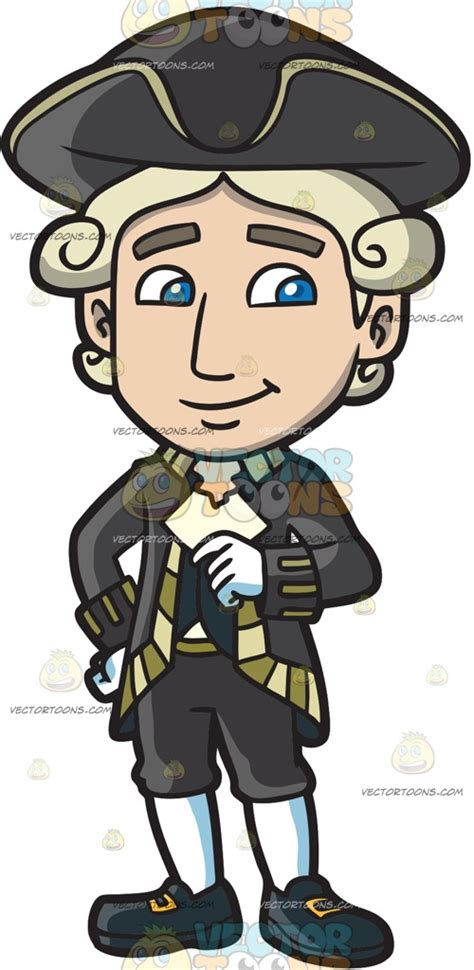 colonial clipart a happy colonial clipart by vector