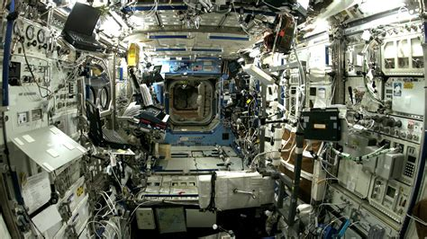 International Space Station Interior Layout by Interior View Of The Destiny Laboratory On The