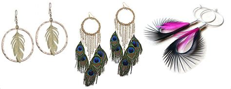 or not feather earrings