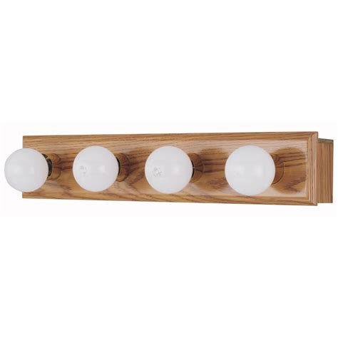 shop style selections 4 light wood bathroom vanity light