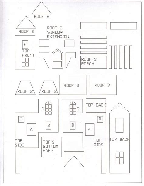 two story gingerbread house template best photos of windows scale model house printable