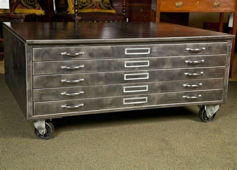 used flat file cabinet steel flat file cabinet at 1stdibs