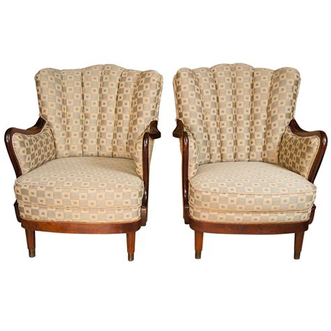1950s armchairs pair of 1950s upholstered armchairs for sale at 1stdibs