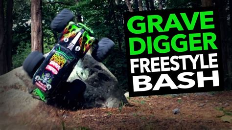 rc truck freestyle rc grave digger jam freestyle bashing
