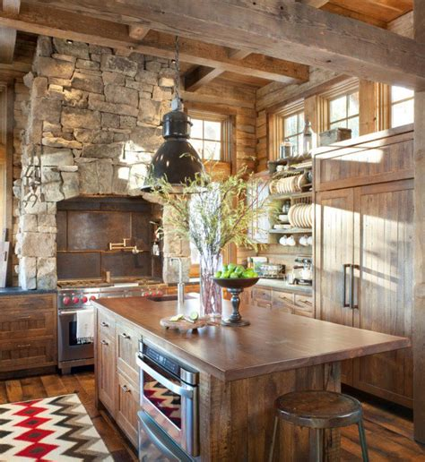 Cabin Kitchen Design 15 Warm Cozy Rustic Kitchen Designs For Your Cabin
