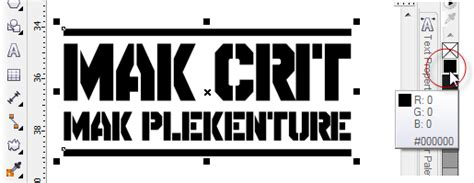 Kaos Huruf C Hitam Keren menggambar logo my trip my adventure belajar coreldraw