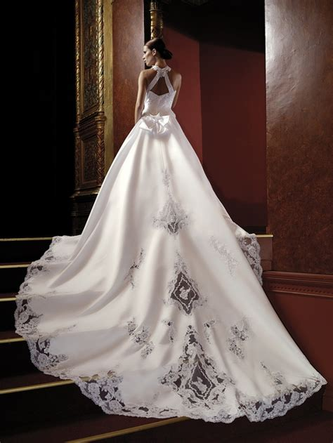 custom wedding dress lacy black on white satin very expensive custom design