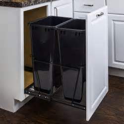 pull out cabinet trash can 50 quart trash can pullout all cabinet parts