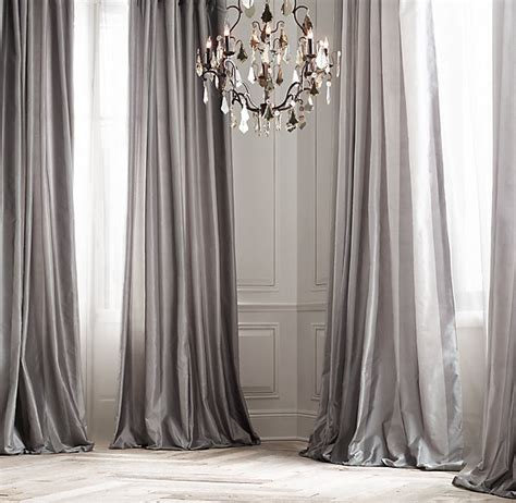 taffeta drapes silk taffeta pavilion stripe drapery with zinc furnishings