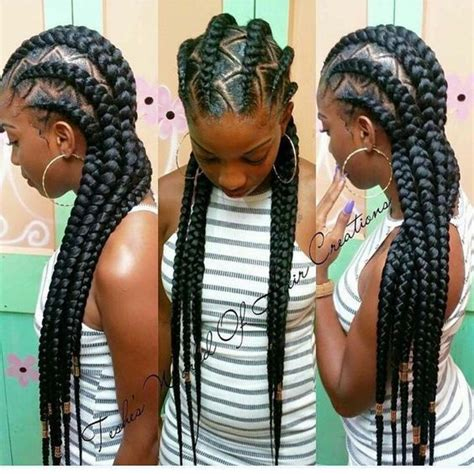 cornrow hairstyles for black women with part in the middle feed in braids black women natural hairstyles braids