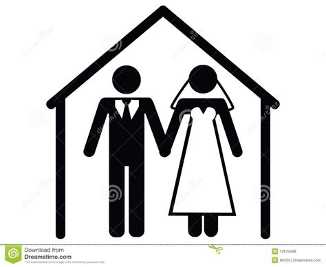 Wedding icon stock vector. Image of apartment, father