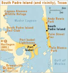 map of san padre island south padre island atc