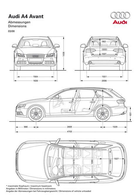Audi A4 Avant Abmessungen by 2009 Audi A4 Avant Wagon Rear Interior View 76894 Photo 2