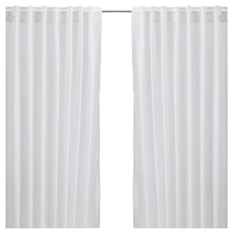 curtains white vivan curtains 1 pair white ikea home pinterest
