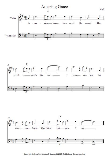 printable version of amazing grace amazing grace sheet music cello